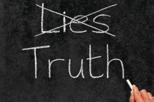 Crossing out Lies and tell Truth